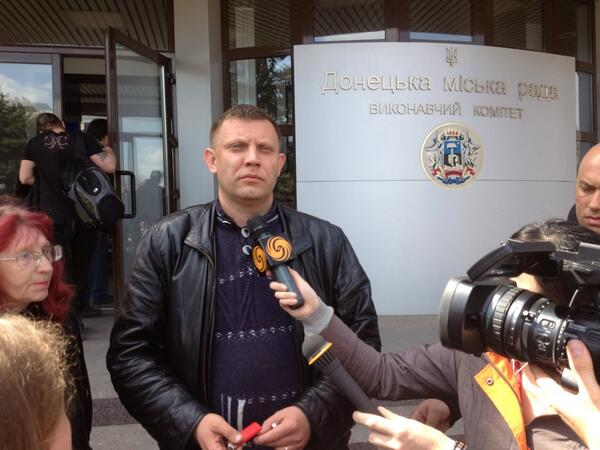 Leader of people who took over Donetsk city council: we are peaceful, we simply want our voices to be heard