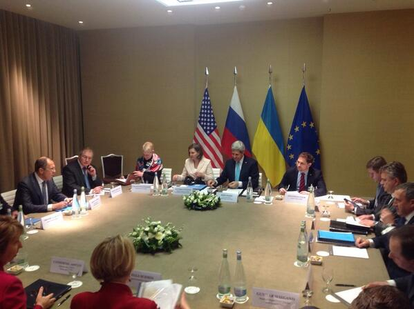 Meeting of the Russia, USA, EU, Ukraine in Geneva