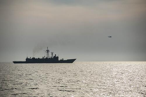 The USS Taylor arrives in Romania: