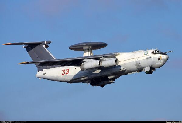 Russian AWACS plane A-50 assisting volunteers with delivery of arms & ammo on UKR-RUS border