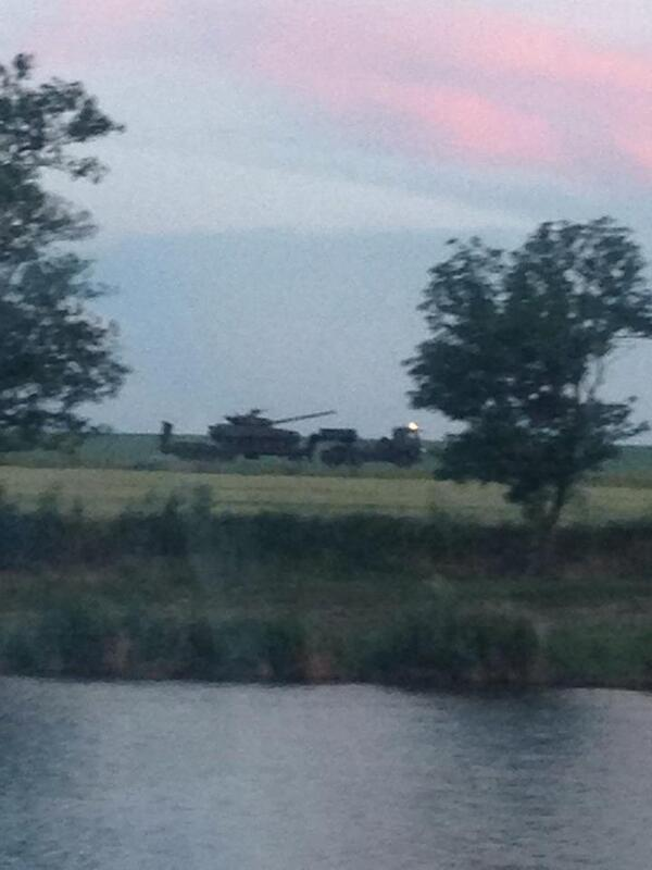 Reportedly, this Ukrainian tank now in Russia was seized in Crimea & is being sent to Russian fighters in E. Ukraine