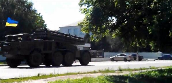 Ukrainian Uragan MRLS's headed to the hot spots.