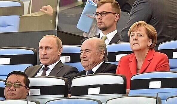 Putin & Merkel in Rio