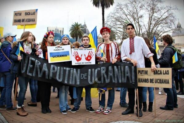 Ukrainians in Argentina support Ukraine UnitedForUkraine