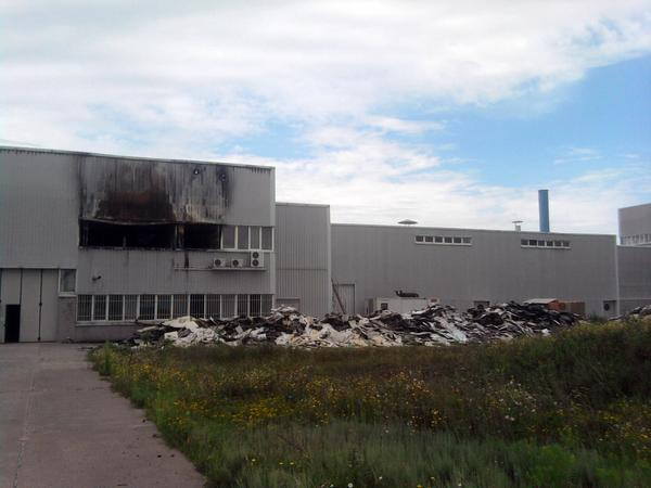 Photo of plant Zeus Keramika in Slavyansk, the consequences of fire