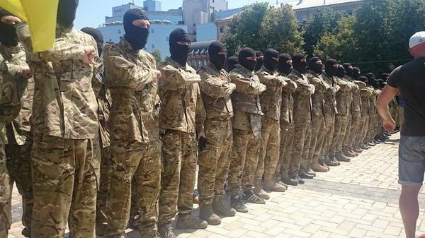 The soldiers of Azov prayed at Sophia square, said goodbye to family and went to the ATO zone