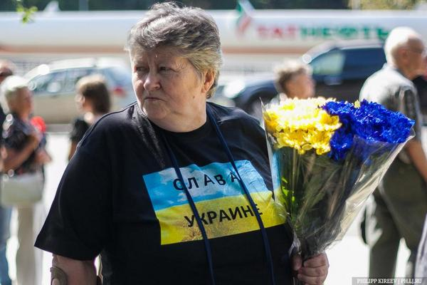 The ceremony of farewell with Novodvorskaya