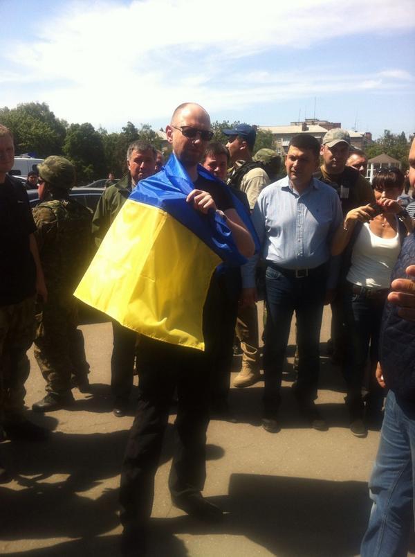 PM @Yatsenyuk_AP in Slovyansk