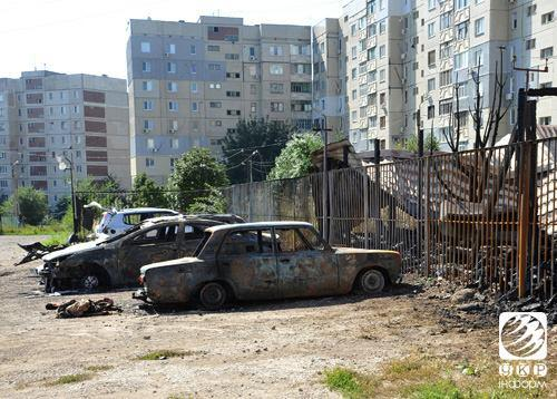 Lugansk after the GRAD shelling