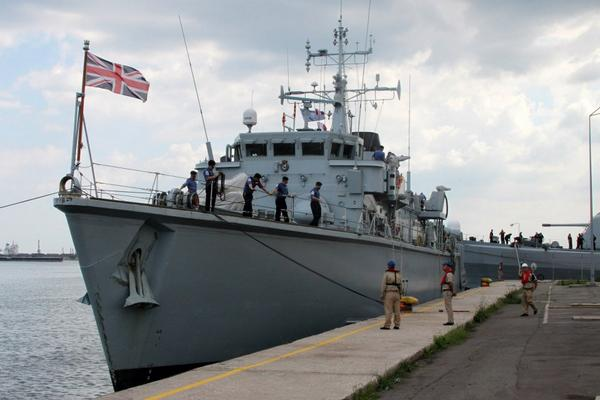 Standing NATO Mine Counter-Measures Group 2 arrived in Romania today-- includes minehunters from Italy, Turkey & UK