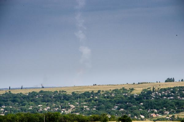 Picture of trace of missile that striked Malaysian Airlines Boeing-777 MH17