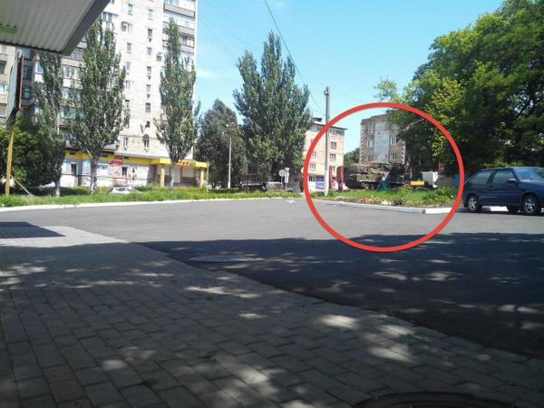 This photo was taken today in terrorist-occupied Snizhne. This is Buk SAM MH17