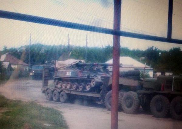 Lisichansk. Terrorists bring artillery to city yesterday