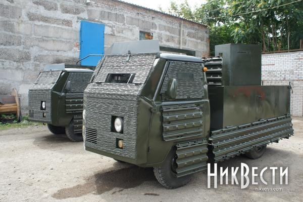 Armored UAZ for Luhansk border guards ateam
