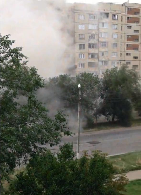 Luhansk Grad shells hit residential area