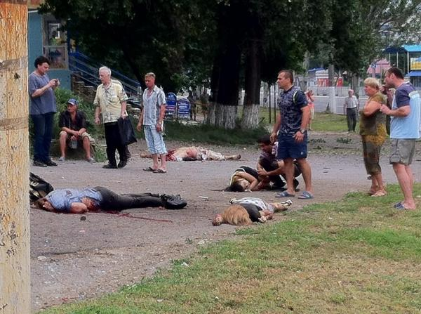 Up to 40 dead and 250 wounded in Luhansk today. Terrorists shoot everyone they don't like