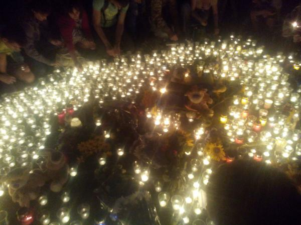 Kharkiv today has brought not only a lot of candles and soft toys MH17