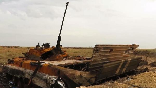 Destroyed Battery near Krasnodon