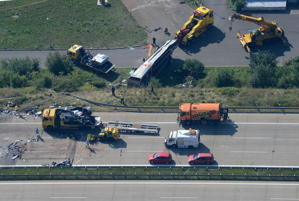 Collision of buses from Ukraine and Poland in Germany, at least 9 dead