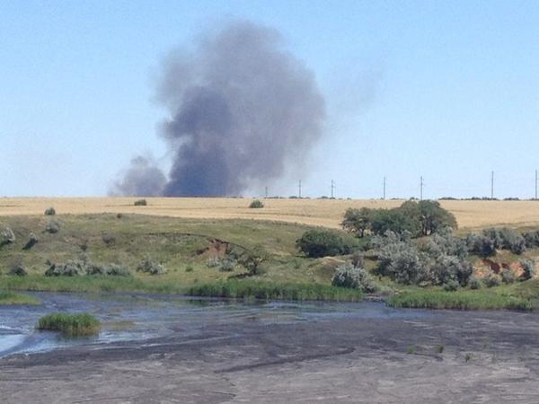 Something burning near Molodohvardiysk