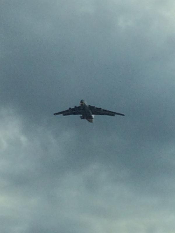 Russian plane near Taganrog near the border with Ukraine