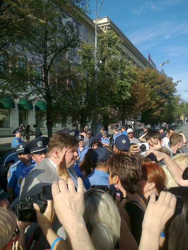 Pro-russian rally in Kharkiv