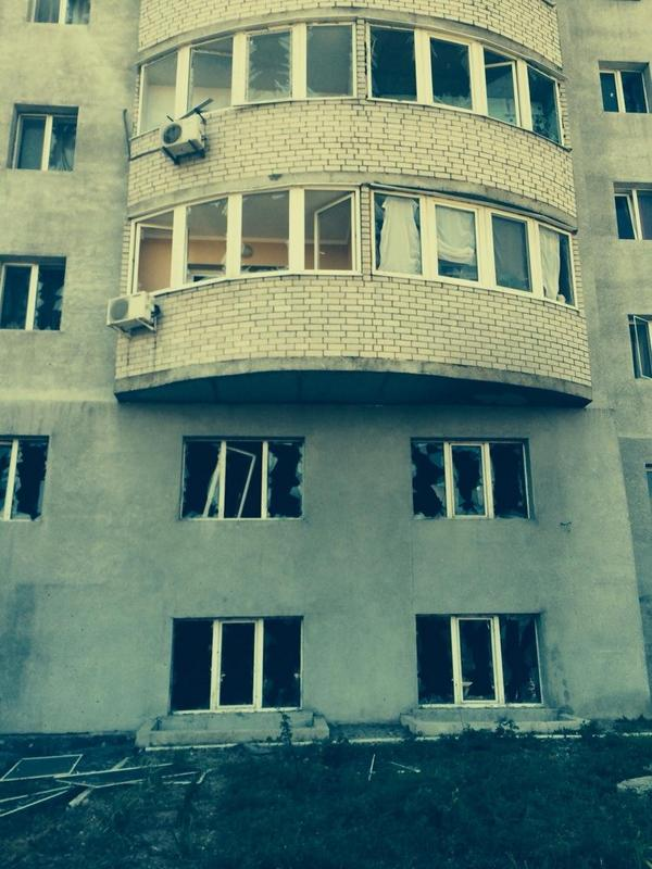 Shell hit residential building close to the railway station. Report of the victims