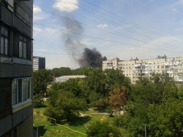 Tochmash plant is burning in Donetsk