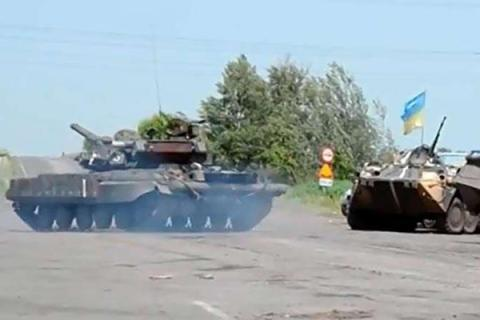 Reports that these Ukrainian  tanks in Horlivka
