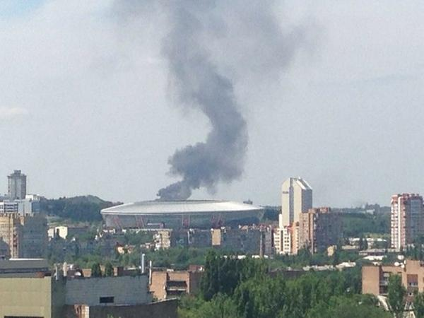 Something is burning in the side of Makiivka
