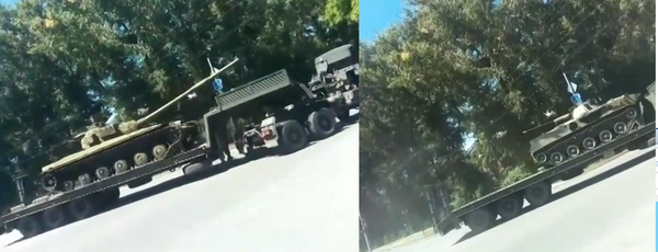 Russians are moving T-64 and BMD-3 in Taganrig, 30km from Ukraine