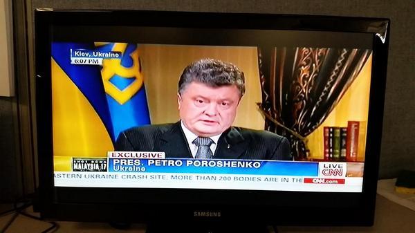 @poroshenko on @CNN MH17