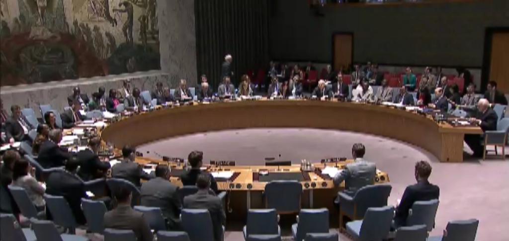 Russian UN Ambassador Churkin walks out of Security Council meeting on Ukraine.