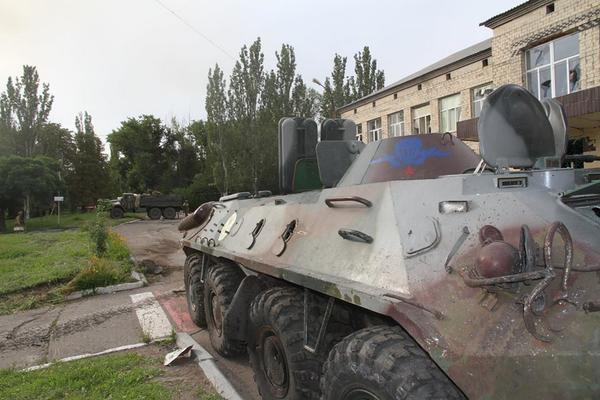 Captured APC in Dzerhnisk