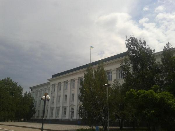 Ukrainian flag was raised over Severodonetsk cityhall