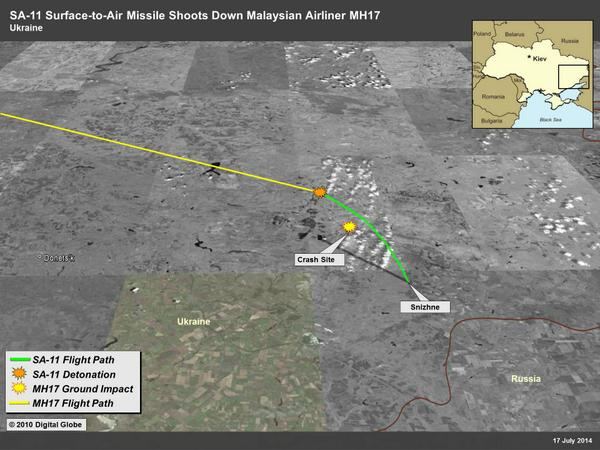 US Intelligence: Missile was launched from Snizhne MH17 boeing777