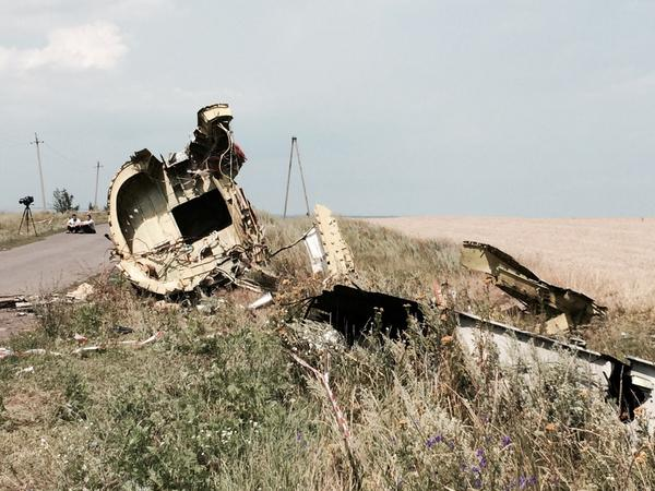 Malaysia Airlines wreckage significantly altered.