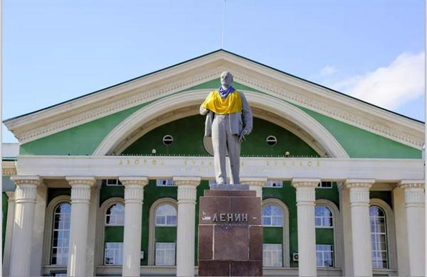 Lenin monument in Severodonetsk