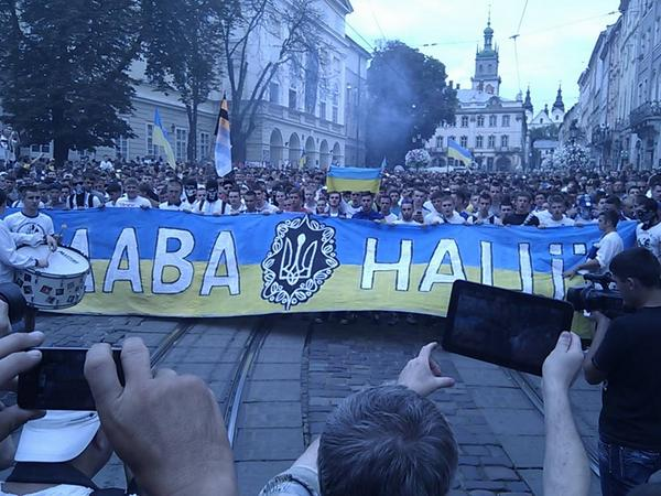 Moscow is Ukraine!, - shouted football fans before the match Dynamo-Shakhtar in Lviv