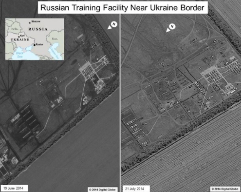 Russian training facility near Ukrainian border