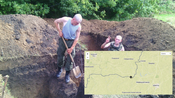 One more pic from Russian soldiers - digging trenches