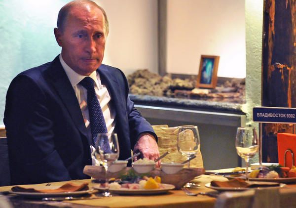 Vladimir Putin employs a full-time food taster to ensure his meals aren't poisoned