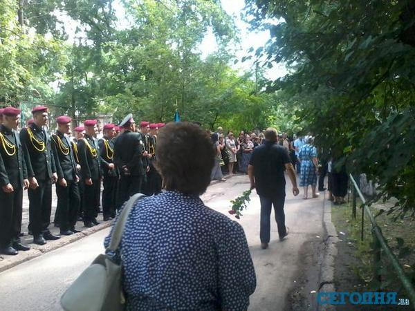 Funeral of volunteer, who was killed near Donetsk, In Kyiv