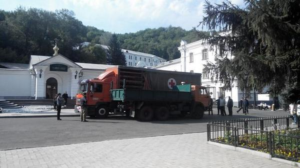 10 tons of humanitarian aid were delivered to refugees in the Svyatogorsk monastery