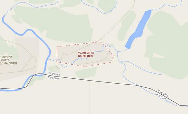 Russia have shelled checkpoints near Kozhevnya