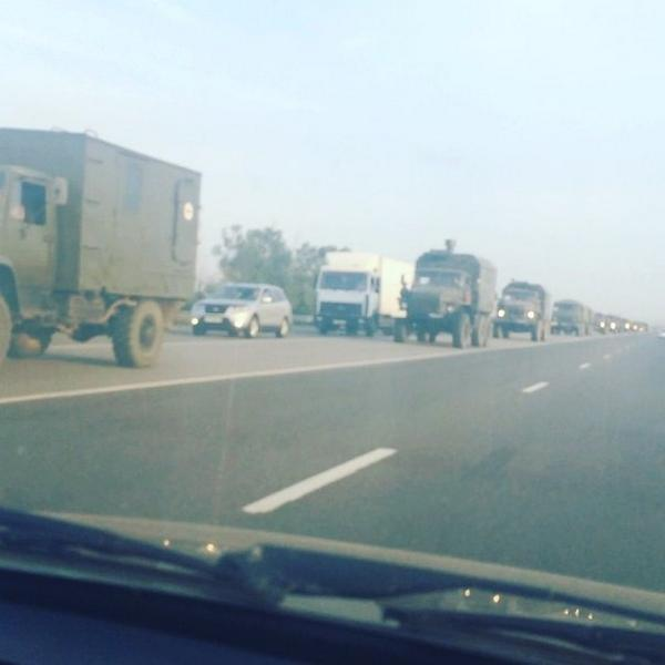 Another RU convoy heading towards border. Hwy M4 Don