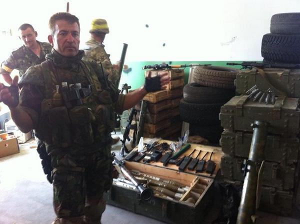 Captured weapons in Lysychansk