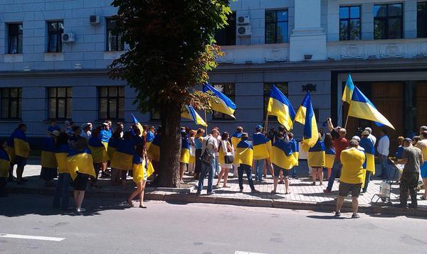 Patriots rally in the Kharkiv