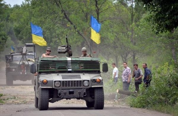 Humvee of Ukrainian forces