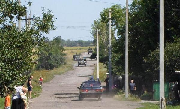 Ukrainian army enter Shakhtarsk